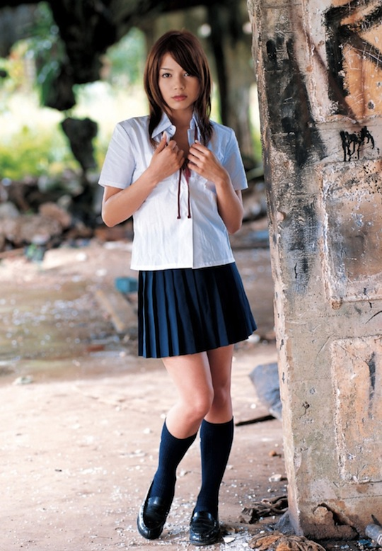 rio jav japanese porn star schoolgirl uniform sexy
