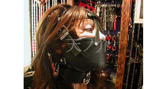 Girls always tell me I'm hot but that doesn't mean I don't ...: www.tokyokinky.com/bondage-leather-hoods-from-tennosuke