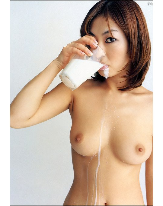 japanese girl milk breasts sexy lactating drink liquid