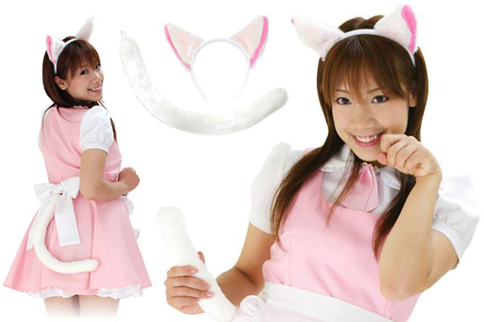 japanese maid cat neko mimi cosplay costume