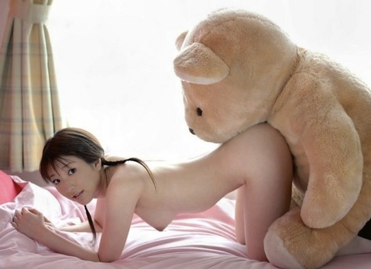 cute japanese girl hot teddy bear