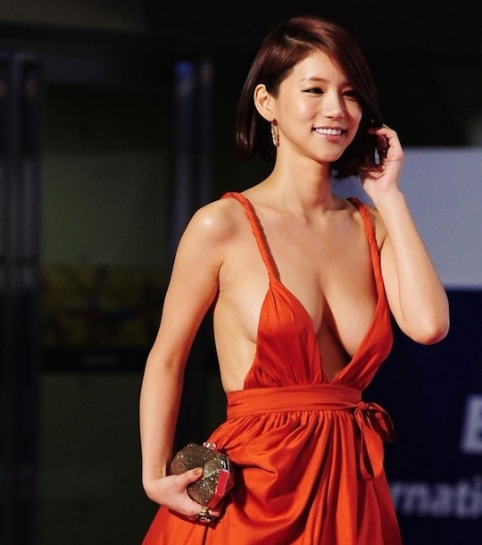 oh in hye korean actress sexy red dress