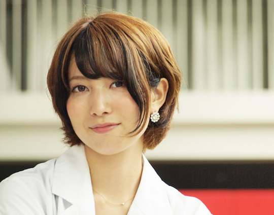 miss rikei curie japan female science student hot cute