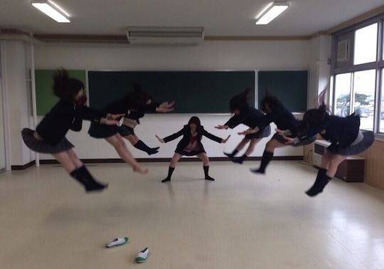 japan school student girl ninja dragon ball kamehameha