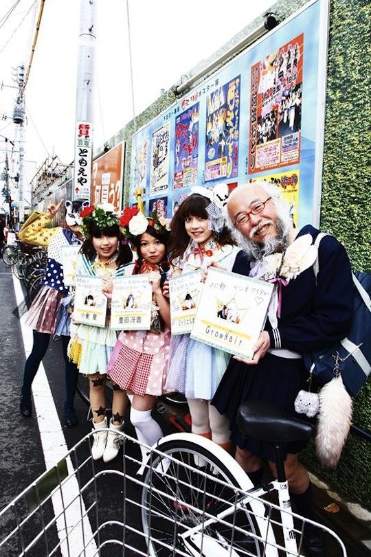 hideaki kobayashi japan old guy cross dress cosplay schoolgirl uniform sailor suit