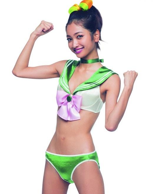 peach john yasui rei sailor moon cosplay underwear lingerie costume sexy