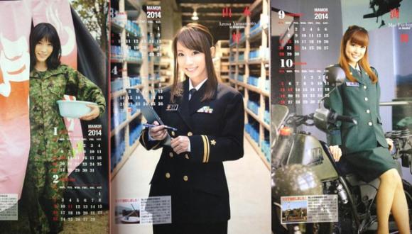 japan self defense force army calendar gravure idol model girls 2014