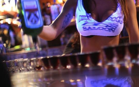 girls bar japan sexy female schoolgirl staff