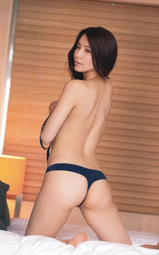 rei toda japanese girl strip underwear panties sexy gravure model