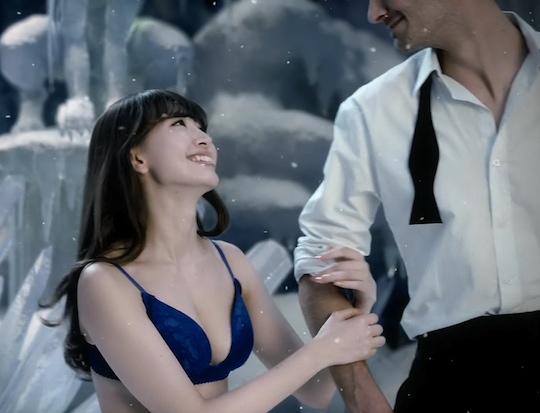 haruna kojima akb48 coolish bra peach john lingerie frozen strip gaijin foreign body hot