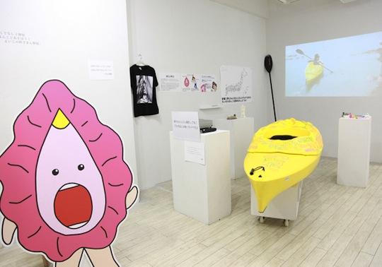 rokudenashi-ko megumi igarashi vagina artist mold pussy genitals boat 3d print arrested erotic japanese girl woman dekoman