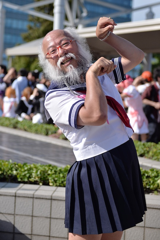 comiket 86 odd scenes weird cosplay people geeks sailor ojiisan
