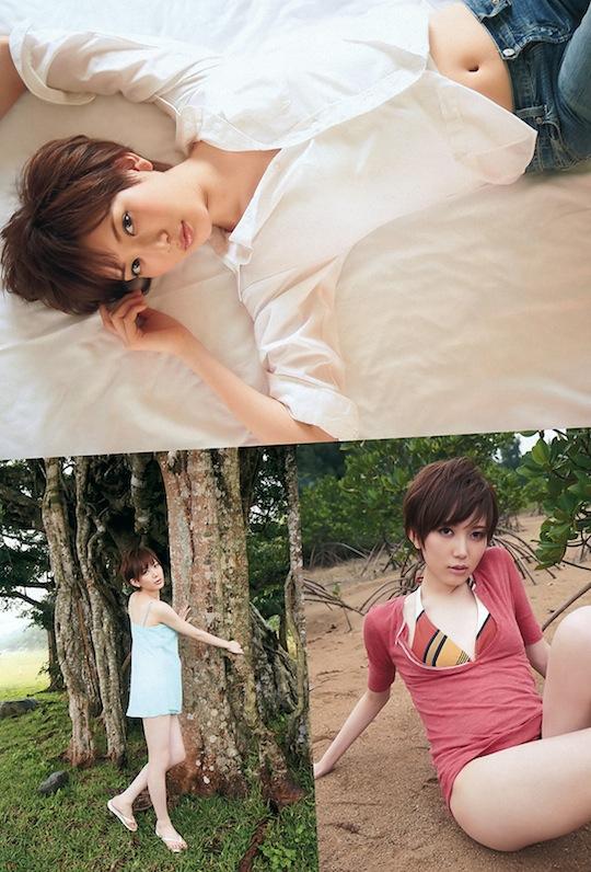 kaoru mitsumune akb48 model idol japanese cute hot boyish