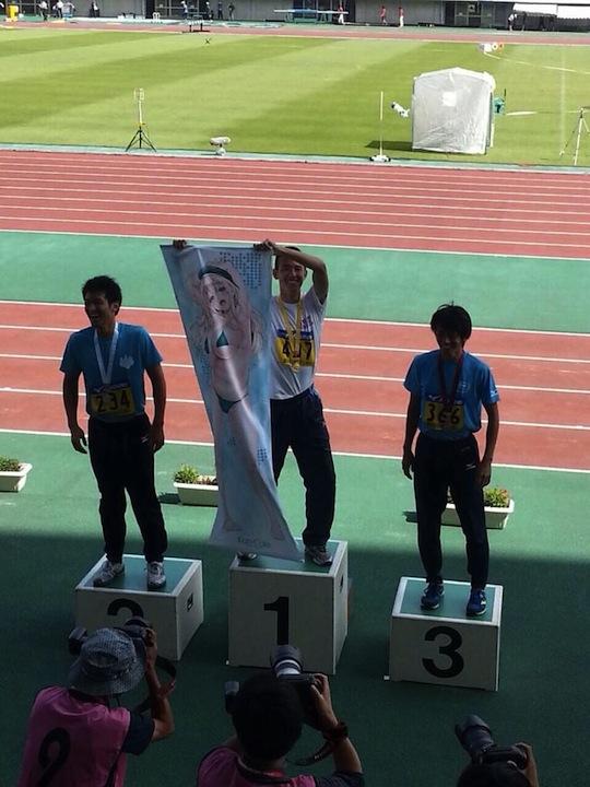 hiroki hashimoto 400 meter race sprint otaku geek idol student college japanese