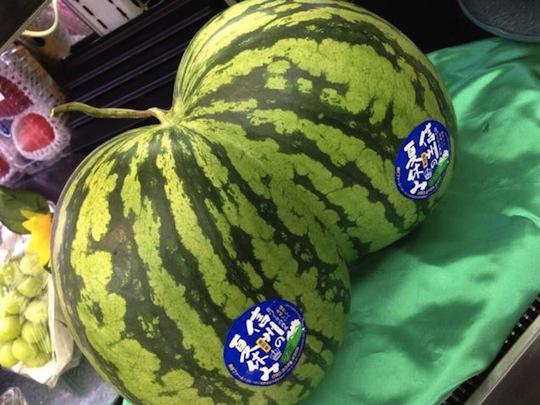 japan watermelon shape butt ass double twin futago suika