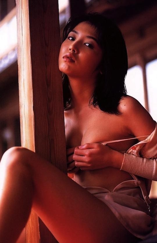miho kinouchi japanese idol jukujo nostalgic hot sexy nude nureba