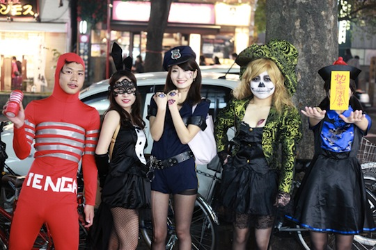 shibuya tenga costume cosplay halloween october 31st 2014 tokyo
