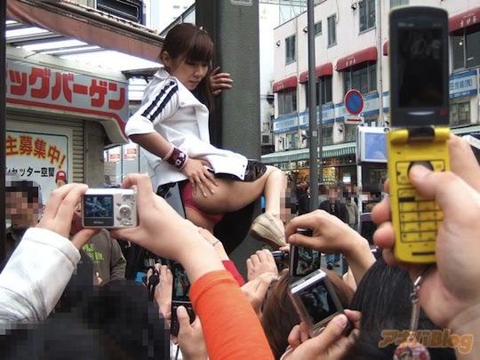 asuka sawamoto akihabara flasher idol perfomer