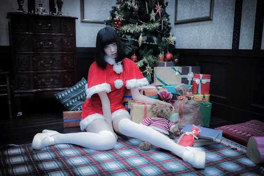 mizuki shinosaki sexy christmas cosplay hot girl japanese