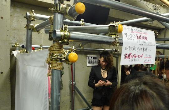 fetish festival japan tokyo shibari bondage booth