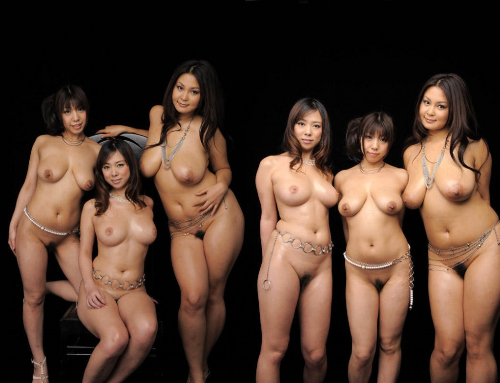 nude group girls japanese bed