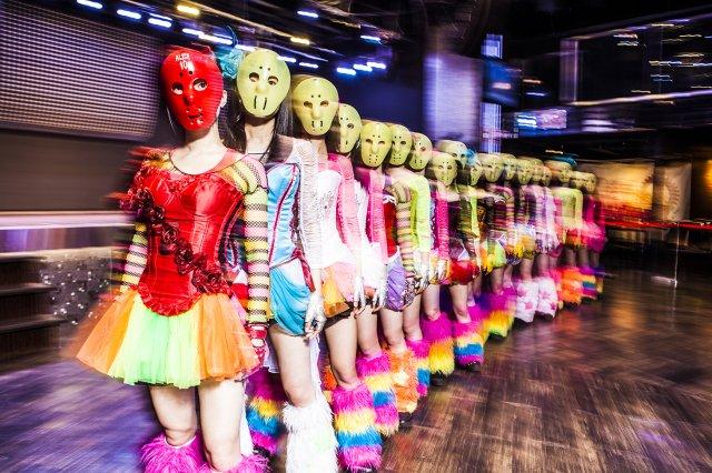 kamen joshi masked idol group japanese