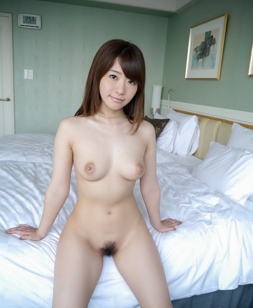Nude women hotel bed join. happens