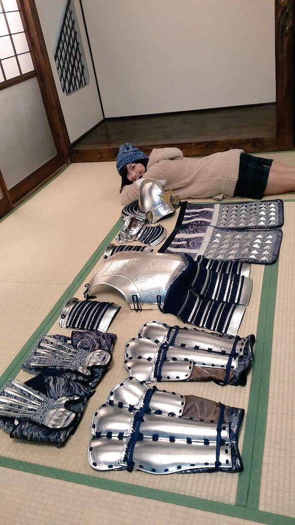 hitomi yasueda gravure idol model yoroi bijo samurai armor suit japan tv show