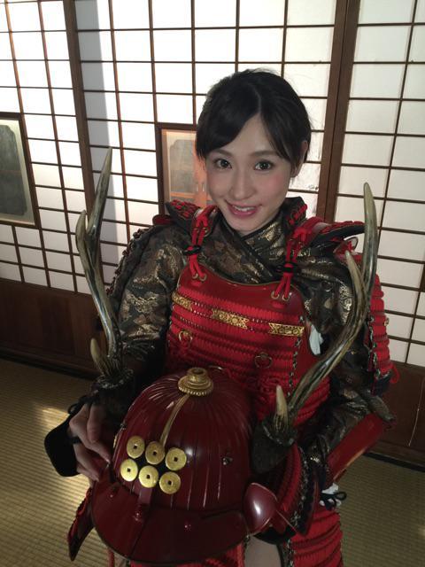kana fujita gravure idol model yoroi bijo samurai armor suit japan tv show