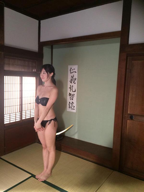 shoko takasaki gravure idol model yoroi bijo samurai armor suit japan tv show