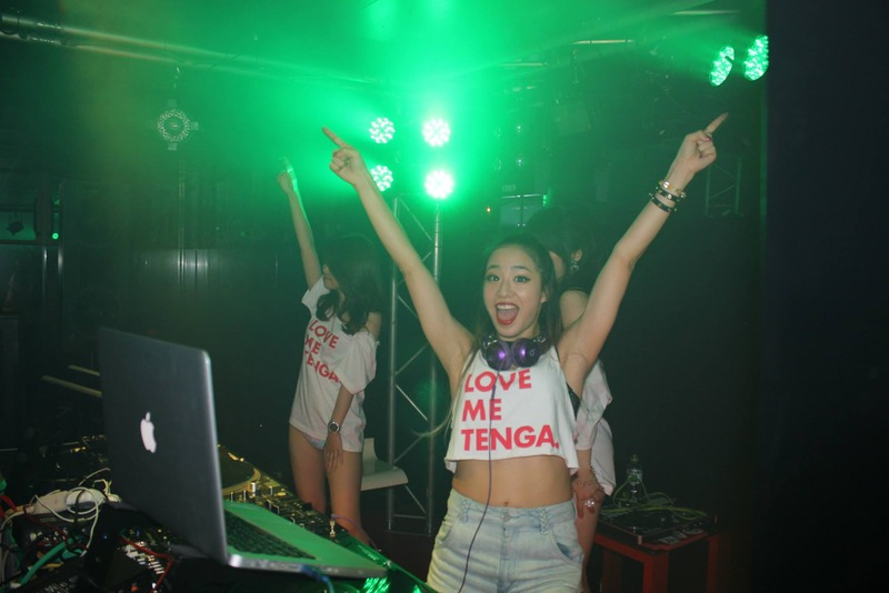 tenga ten year anniversary birthday party celebration nightclub go-go dancer condom promo event masturbation japanese sex toy