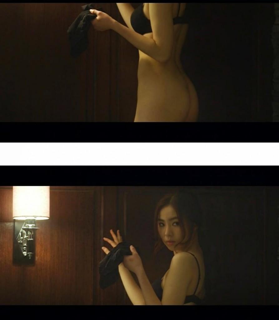 Men examining naked girls