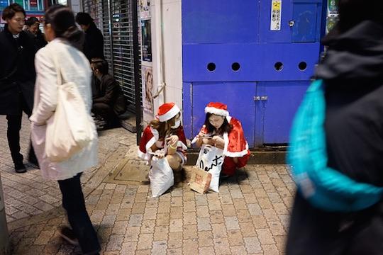 christmas cosplay costume santa sexy girls japan tokyo shibuya
