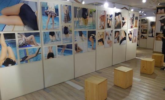 yuria futomomo sekai world thighs exhibition photography fetish japanese girls cute sexy tokyo shibuya