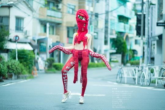 kazan yamamoto namada cosplay japanese octopus live hokusai shunga tentacle sex photograph