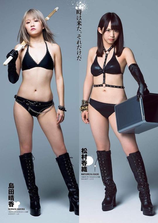 akb48 idols girls tofu pro wrestler wrestling TV show sexy cute