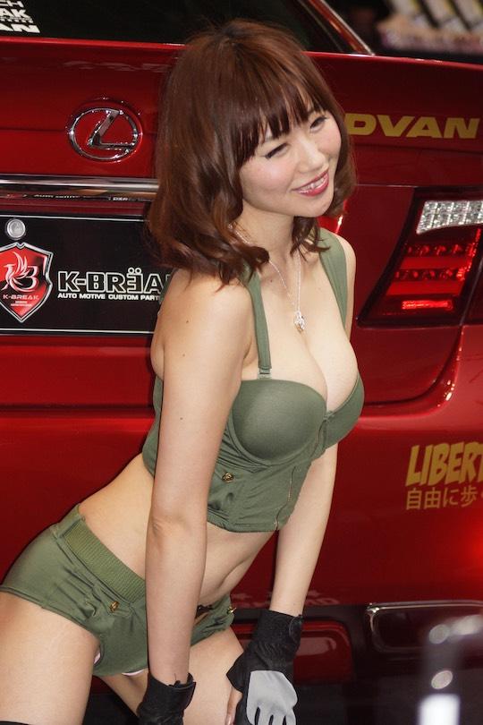 tokyo auto salon 2017 booth car japanese girl babe sexy