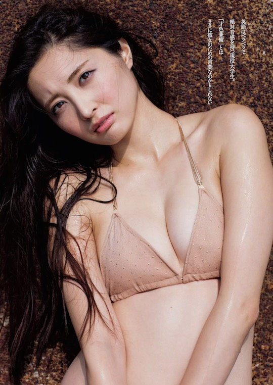 eri oishi bisexual japanese model gravure idol sexy hot body