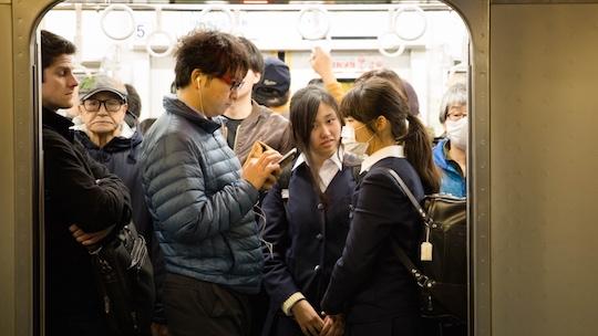 train molesting bus chikan Asian