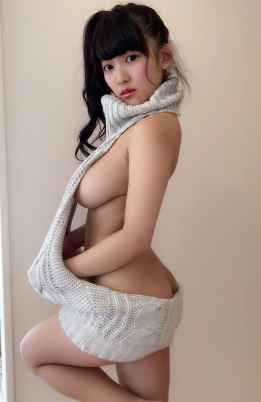 jun amaki amazing busty breasts gravure model japan