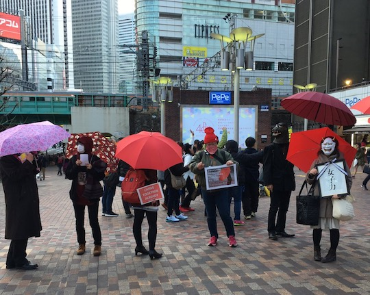 red umbrella march tokyo sex workers