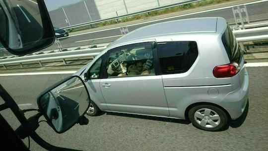 japanese couple-highway-sex-oral blowjob public roshutsu