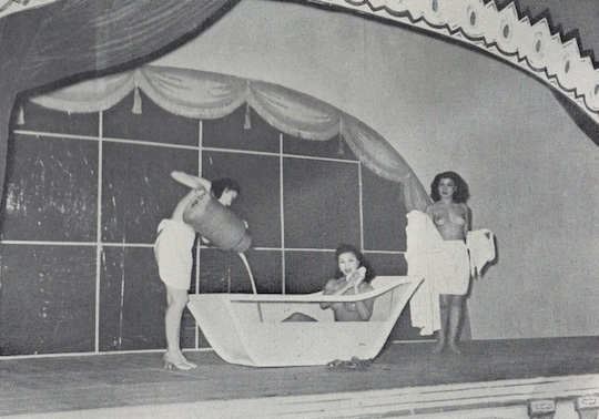 japan strip show milk bath postwar 1950s
