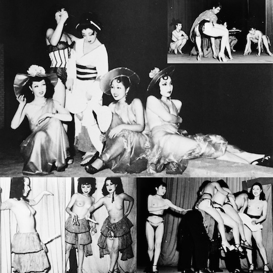 postwar vintage japanese strippers occupation 1950s 1940s erotic