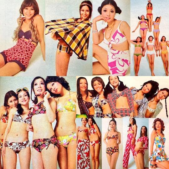 vintage-japanese swimwear model