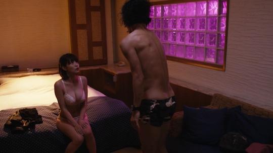asuka kishi sex scene fringeman television drama show bust body hot tattoo