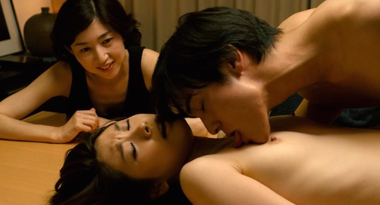 white lily rin asuka nude naked sex scene japanese lesbian movie film kaori yamaguchi kanako nishikawa