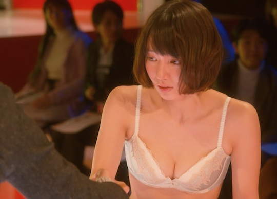 riho yoshioka tv tbs drama nude scene breasts kimigakokoronisumitsuita lingerie bra bust cute hot