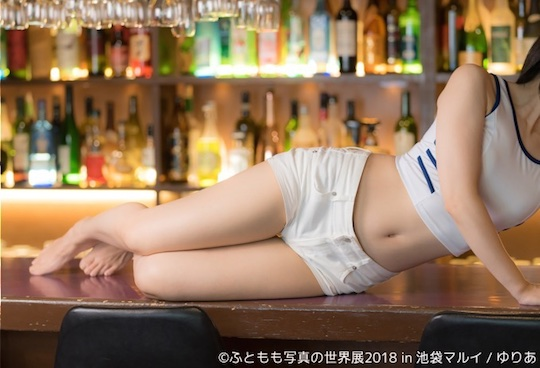 japan thighs naked legs fetish photography yuria controversial futomomo exhibition cancelled censorship underage models