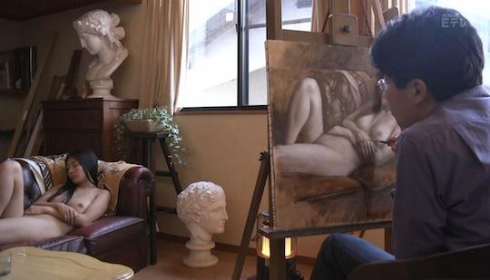 beautiful japanese nude model painting paipan body